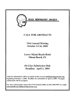Call for Abstracts  Child Neurology Society.