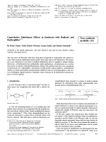 Capto-dative Substituent Effects in Syntheses with Radicals and Radicophiles [New synthetic methods (32)].