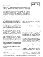 Carbene Complexes in Organic Synthesis [New Synthetic Methods (47)].