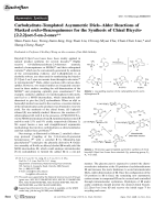 Carbohydrate-Templated Asymmetric DielsЦAlder Reactions of Masked ortho-Benzoquinones for the Synthesis of Chiral Bicyclo[2.2.2]oct-5-en-2-ones