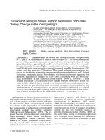 Carbon and nitrogen stable isotopic signatures of human dietary change in the Georgia Bight.