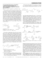 Cascade Radical Reactions of Isonitriles  A Second-Generation Synthesis of (20S)-Camptothecin  Topotecan  Irinotecan  and GI-147211C.