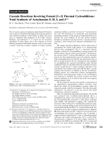 Cascade Reactions Involving Formal [2+2]Thermal Cycloadditions  Total Synthesis of Artochamins F  H  I  and J.