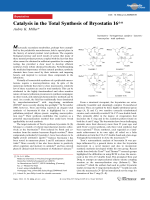 Catalysis in the Total Synthesis of Bryostatin16.