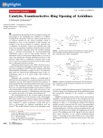 Catalytic  Enantioselective Ring Opening of Aziridines.