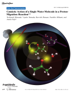 Catalytic Action of a Single Water Molecule in a Proton-Migration Reaction.