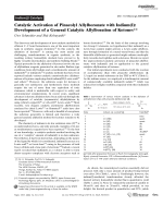Catalytic Activation of Pinacolyl Allylboronate with Indium(I)  Development of a General Catalytic Allylboration of Ketones.