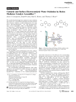 Catalytic and Surface-Electrocatalytic Water Oxidation by Redox MediatorЦCatalyst Assemblies.
