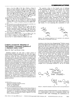 Catalytic Asymmetric Alkylation of Nucleophiles  Asymmetric Synthesis of -Alkylated Amino Acids.