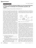 Catalytic Asymmetric Hydroperoxidation of  -Unsaturated Ketones  An Approach to Enantiopure Peroxyhemiketals  Epoxides  and Aldols.