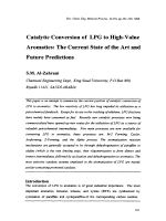 Catalytic Conversion of LPG to High-Value Aromatics  The Current State of the Art and Future Predictions.