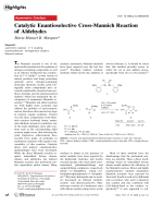 Catalytic Enantioselective Cross-Mannich Reaction of Aldehydes.