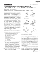 Catalytic Enantioselective Stereoablative Alkylation of 3-Halooxindoles  Facile Access to Oxindoles with C3 All-Carbon Quaternary Stereocenters.