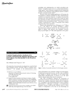 Catalytic Enantioselective Synthesis of -Lactams  Intramolecular Kinugasa Reactions and Interception of an Intermediate in the Reaction Cascade.