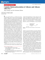Catalytic Hydrocarboxylation of Alkenes and Alkynes with CO2.