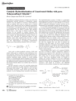 Catalytic Hydrochlorination of Unactivated Olefins with para-Toluenesulfonyl Chloride.