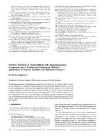 Catalytic Synthesis of Organolithium and Organomagnesium Compounds and of Lithium and Magnesium HydridesЧApplications in Organic Synthesis and Hydrogen Storage.