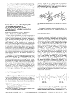 Cateholates as - and -Donationg Ligands  The Synthesis and Structure of (Et4N)2[W(CO)4(O2C6H4)] and the УSixteen ElectronФ Analogue Resulting from CO Dissociation.