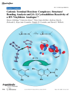 Cationic Terminal Borylene Complexes  StructureBonding Analysis and [4+1] Cycloaddition Reactivity of a BN Vinylidene Analogue.