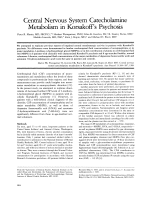 Central nervous system catecholamine metabolism in Korsakoff's psychosis.