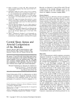 Central sleep apnea and arterial compression of the medulla.