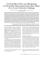 Cerebral blood flow and metabolism in chronically hyperammonemic rats  Effect of an acute ammonia challenge.