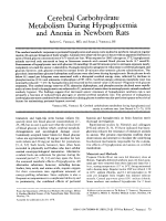 Cerebral carbohydrate metabolism during hypoglycemia and anoxia in newborn rats.