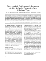 Cerebrospinal fluid acetylcholinesterase activity in senile dementia of the Alzheimer type.