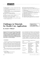 Challenges in Materials for Health Care Applications.