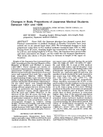 Changes in body proportions of Japanese medical students between 1961 and 1986.
