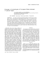 Changes in somatotypes of European males between 17 and 24 years.