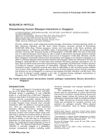 Characterizing humanЦmacaque interactions in Singapore.