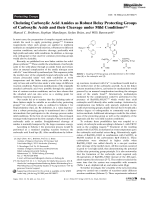 Chelating Carboxylic Acid Amides as Robust Relay Protecting Groups of Carboxylic Acids and their Cleavage under Mild Conditions.