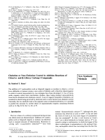 Chelation or Non-Chelation Control in Addition Reactions of Chiral - and - Alkoxy Carbonyl Compounds [New Synthetic Methods (44)].