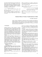 Chemical Effects of Nuclear Transformations in Solids.