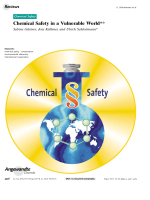 Chemical Safety in a Vulnerable World.