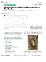 Chemical Signatures of Fossilized Resins and Recent Plant Exudates.