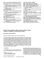 Chemical Vapor Deposition of Silicon Carbide and Silicon NitrideЧChemistry's Contribution to Modern Silicon Ceramics.