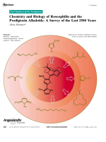 Chemistry and Biology of Roseophilin and the Prodigiosin Alkaloids  A Survey of the Last 2500 Years.