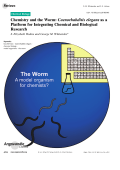 Chemistry and the Worm  Caenorhabditis elegans as a Platform for Integrating Chemical and Biological Research.