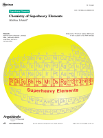 Chemistry of Superheavy Elements.