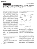 Chemoenzymatic Synthesis and Application of Bicyclo[2.2.2]octadiene Ligands  Increased Efficiency in Rhodium-Catalyzed Asymmetric Conjugate Additions by Electronic Tuning