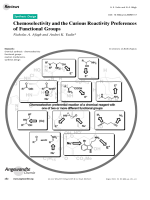Chemoselectivity and the Curious Reactivity Preferences of Functional Groups.
