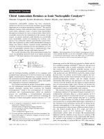 Chiral Ammonium Betaines as Ionic Nucleophilic Catalysts.