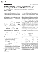 Chiral Phosphoric Acid Catalyzed Desymmetrization of meso-1 3-Diones  Asymmetric Synthesis of Chiral Cyclohexenones.