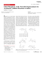 Chiral Phosphoric Acids  Powerful Organocatalysts for Asymmetric Addition Reactions to Imines.