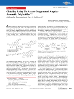Chirality Relay To Access Oxygenated Angular Aromatic Polyketides.