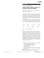 Chirally Aminated 2-NaphtholsЧOrganocatalytic Synthesis of Non-Biaryl Atropisomers by Asymmetric FriedelЦCrafts Amination.