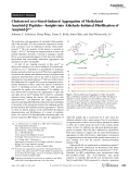 Cholesterol seco-Sterol-Induced Aggregation of Methylated Amyloid- PeptidesЧInsights into Aldehyde-Initiated Fibrillization of Amyloid-.