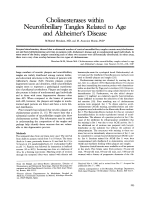 Cholinesterases within neurofibrillary tangles related to age and Alzheimer's disease.